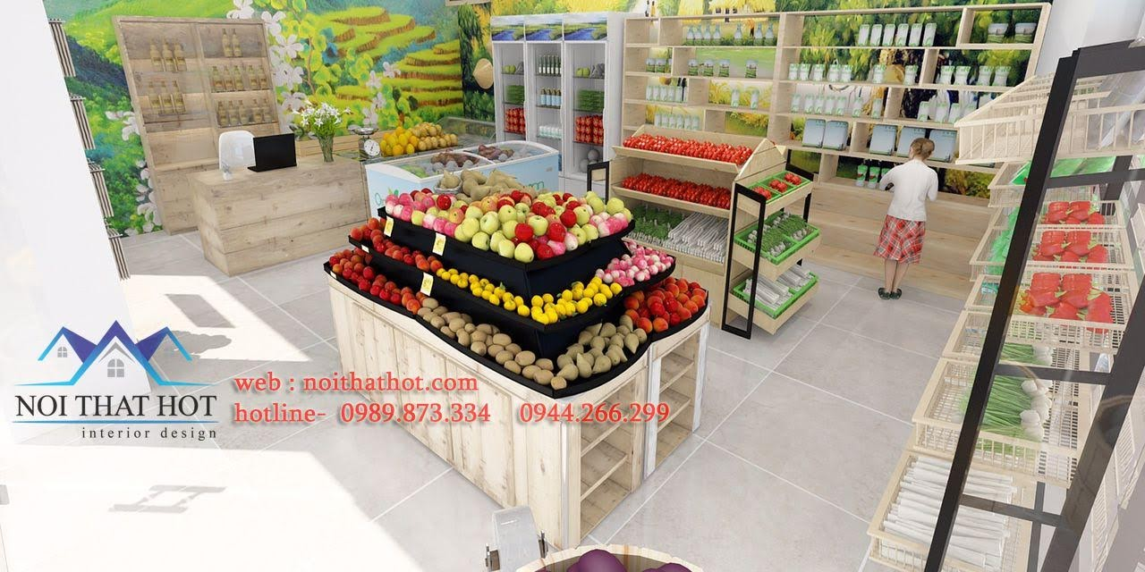 thiết kế cửa hàng hoa quả sạch 6