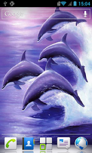 Dolphins live wallpaper screenshot 2