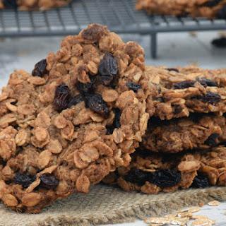 Crunchy Spelt Raisin Cookies [vegan]