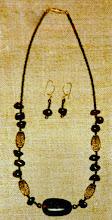Photo: Amber, copper, glass, gold vermeil  SOLD/ПРОДАНИЙ