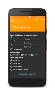 Wake Lock - CPU Awake- screenshot thumbnail