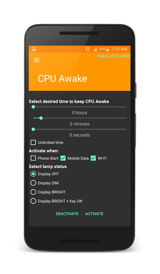 Wake Lock - CPU Awake- screenshot