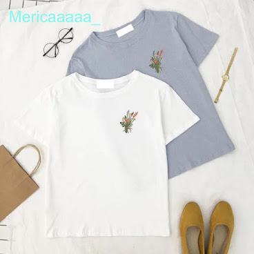 花花刺繡t恤