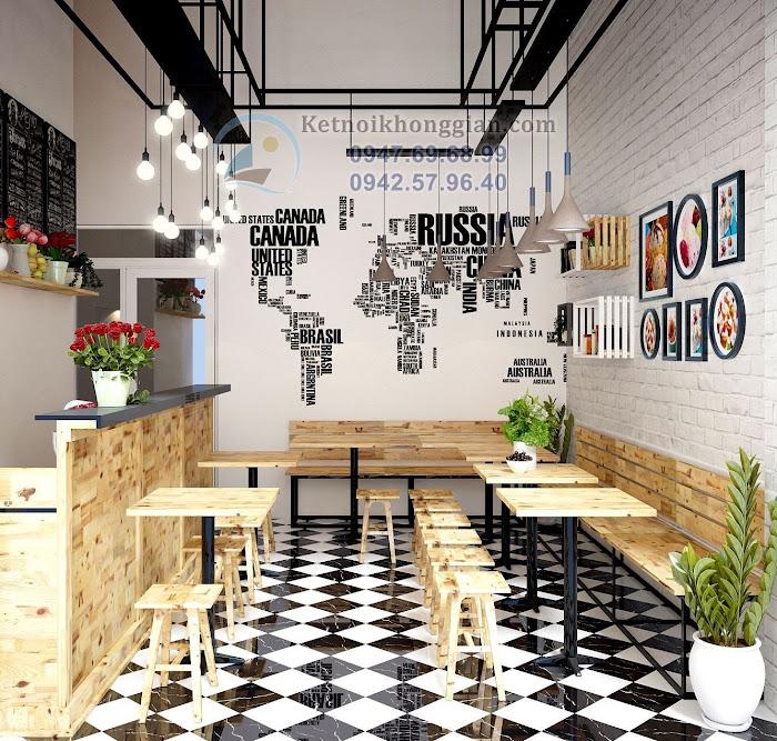 thiết kế quán cafe teen