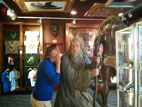 Photo: Sarah telling important secrets to Gandolf.