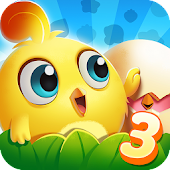 Chicken Splash 3-A Free Match 3 Puzzle Game