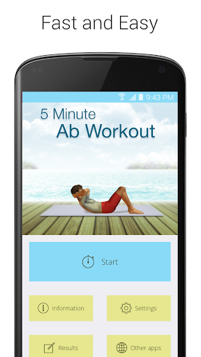 5 Minute Ab Workouts screenshot 1