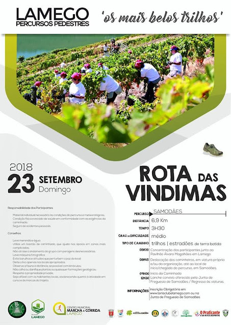 Programa – Rota das Vindimas – Lamego – 23 de setembro de 2018
