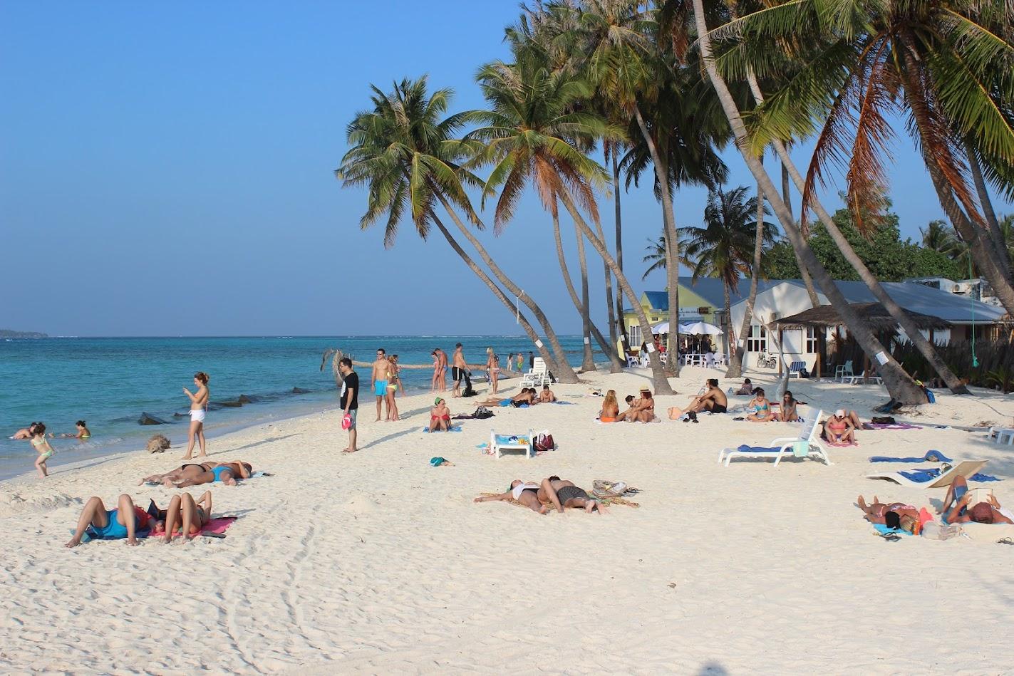 пляж на Маафуши в реальности