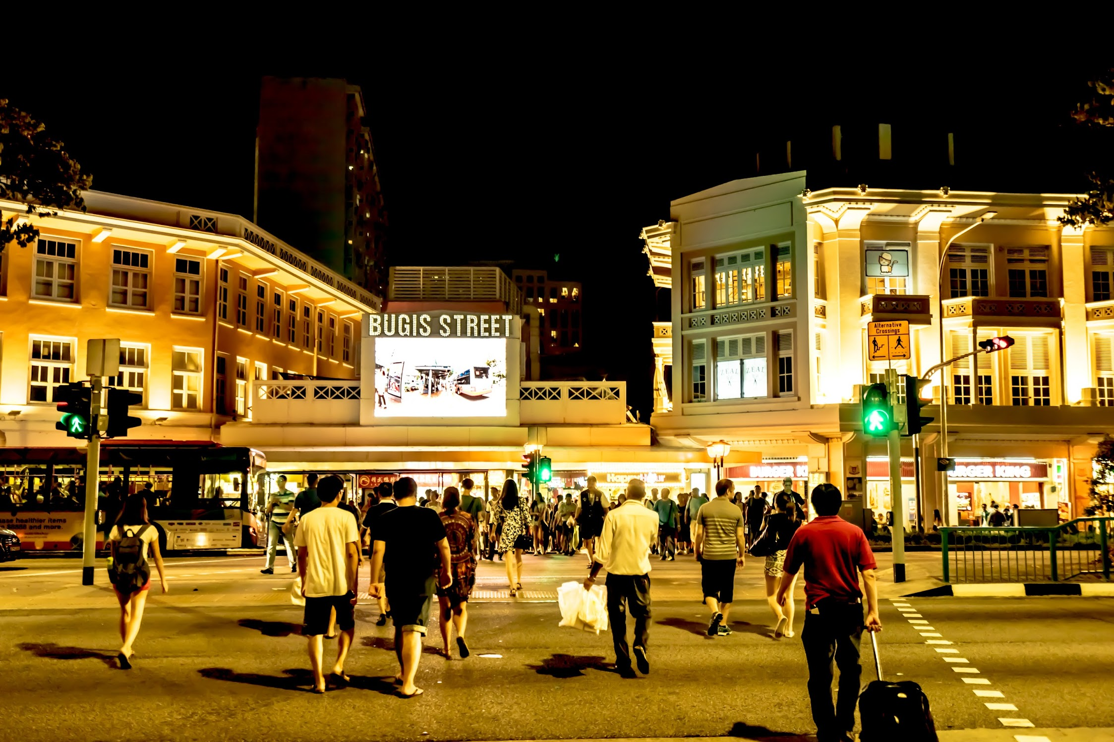 Singapore Bugis street night view