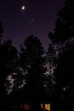 Photo: Moon, Venus, and Jupiter over Flagstaff, Arizona USA