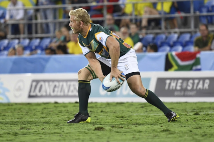 Kyle Brown during Sevens rugby match against Scotland of day 10 of the Gold Coast 2018 Commonwealth Games at XXX on April 14, 2018 in Gold Coast, Australia.