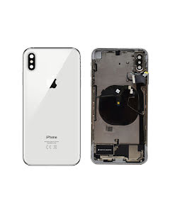 iPhone XS Max Housing with small parts Original Pulled Silver