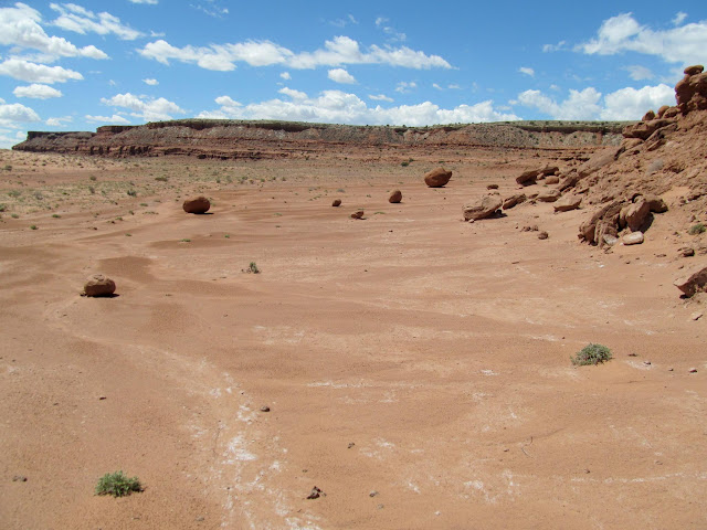 Hiking along the base of the Red Ledges