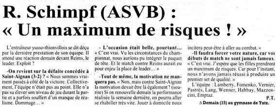 Photo: 23-11-96 N2F L'ASVB reçoit Reims, le leader