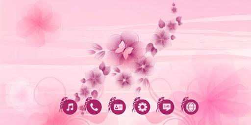 粉色鮮花主題