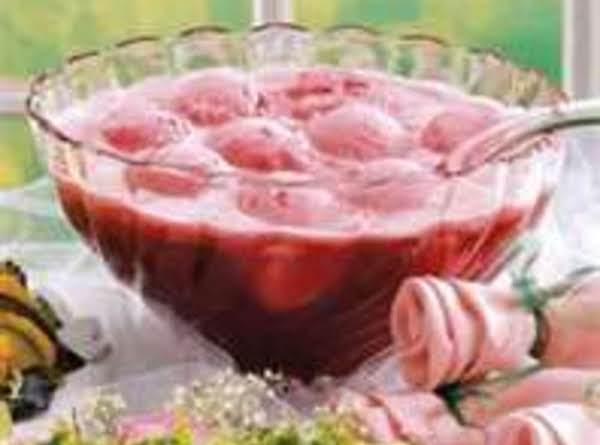 Raspberry Champagne Punch