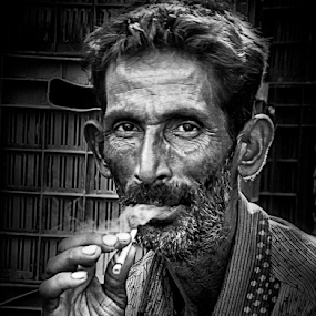Smoking by Deepak Goswami - People Portraits of Men ( hand, smoking, candid, health, man )
