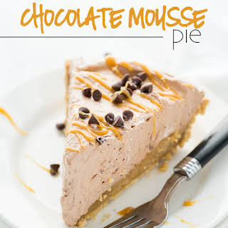 Peanut Butter Bottomed Chocolate Mousse Pie.