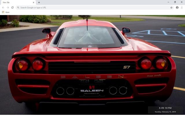 Saleen S7 Twin Turbo New Tab Theme
