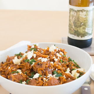 Mexican Sausage And Rice Skillet.
