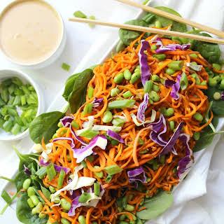 Sweet Potato Noodle Salad with Peanut Dressing.