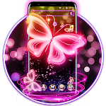 Neon Butterfly Pink Shine Theme Icon