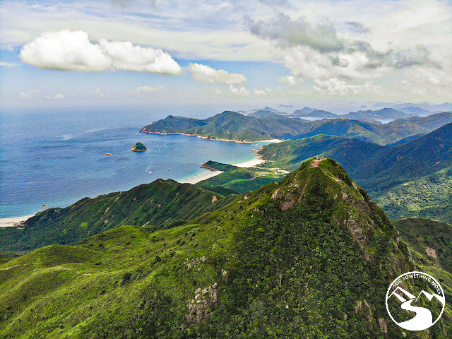 The summit you reach when you hike Sharp Peak in Sai Kung Hong Kong
