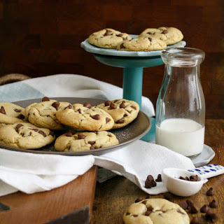 Small Batch Soft + Chewy Chocolate Chip Cookies.