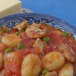 Quick Gnocchi with Ham, Mushroom and Peas