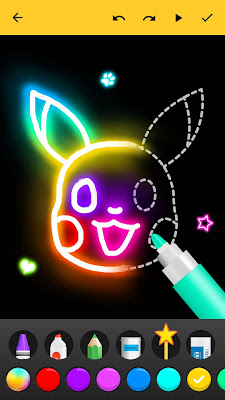 Learn to Draw Glow Cartoon - screenshot