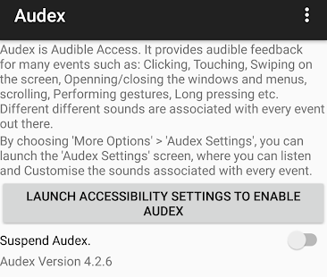 Audex: Accessibility Redefined – Miniaturansicht des Screenshots