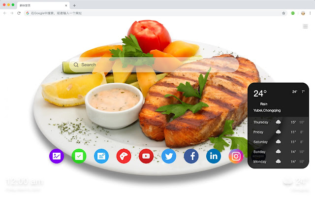 Meal Top Wallpapers HD Food New Tabs Theme