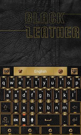 ブラックレザーキーボード