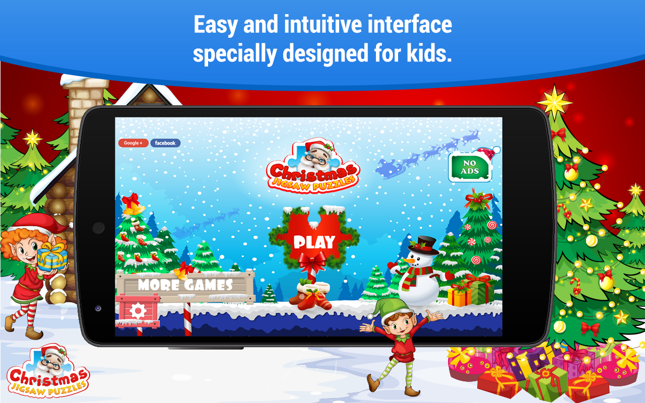 Christmas games 🎅 Puzzles for kids Girls and Boys- screenshot