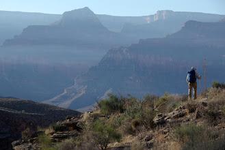 Photo: Hiker, Grand Canyon, Arizona USA