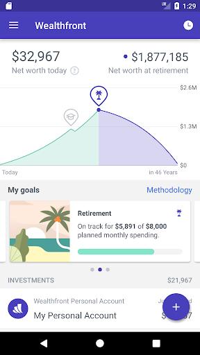 Wealthfront screenshot 1
