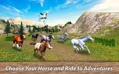 World of Wild Horses: Survival Simulator - náhled