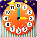 Learning to tell time is fun icon