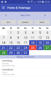 Deutsche Feiertage & Ferien - náhled