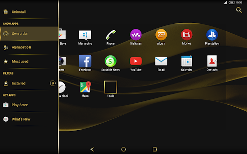 Black & Gold Theme for Xperia- screenshot thumbnail