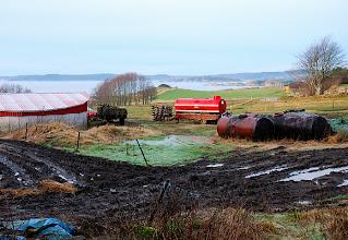 Photo: Jordbruk vid Hakefjorden.
