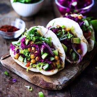 Curried Garbanzo Bean Tacos