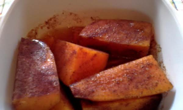 Cinnamon Sweet Potato Wedges