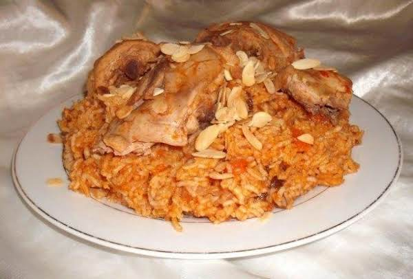 Kabsa Saudi Rice Chicken Just A Pinch Recipes