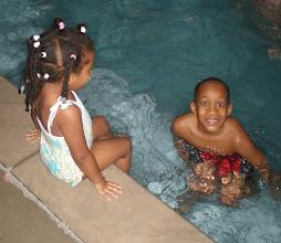 Photo: kaleya enjoyed playing in the water with jihad