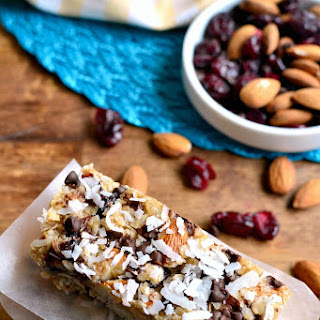 No-Bake Cranberry Almond Joy Granola Bars