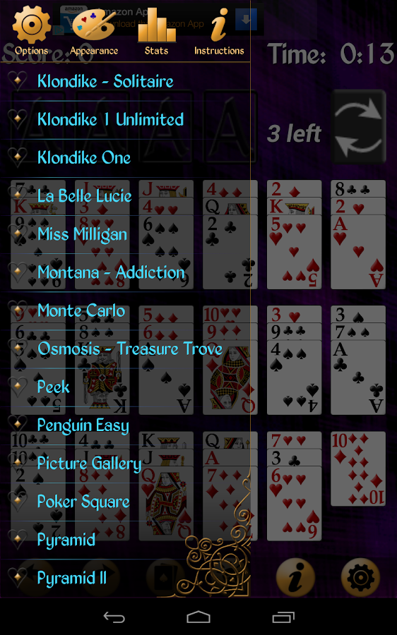 Solitaire Free Pack - screenshot