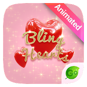 Bling Hearts GO Keyboard Animated Theme