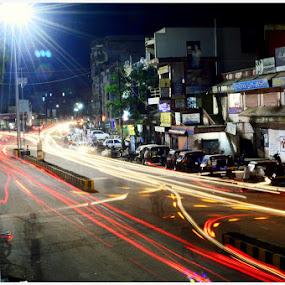 by Himanshu Maya - City,  Street & Park  Night